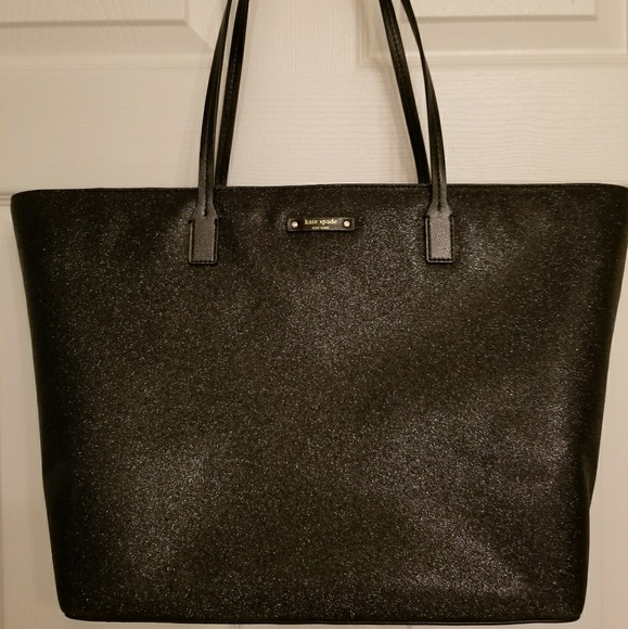 f9a8157ca96 Kate Spade Margareta Haven Lane Lg Glitter Tote